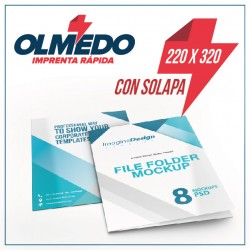 Carpeta 225x320 mm CON SOLAPA