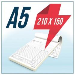 Talonario Autocopiativo A5 Original y Copia
