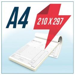 Talonario Autocopiativo A4 Original y Copia